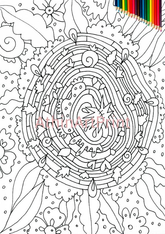coloring pages printable coloring page abstract coloring page coloring pages for adults kids coloring print and color instant download