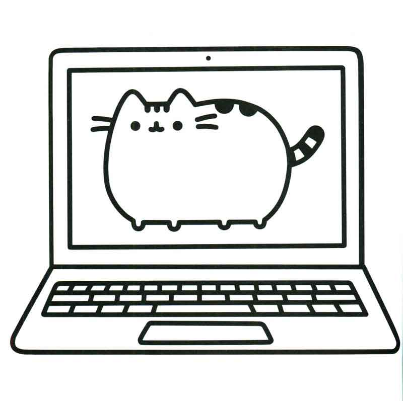 coloring pages printable pusheen pusat hobi