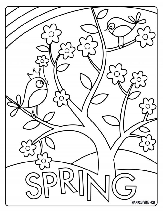 coloring pages printable spring coloring pages free