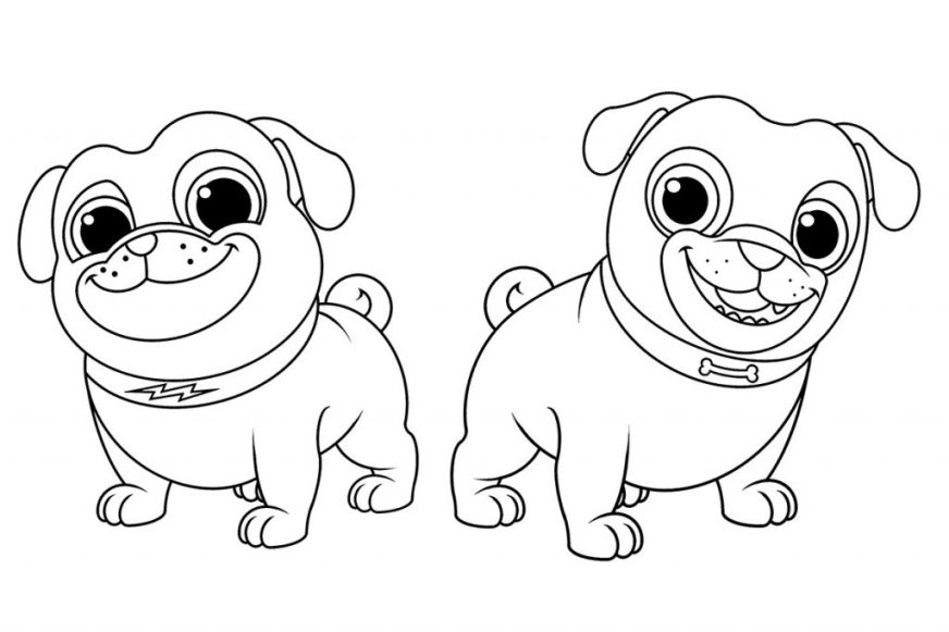 coloring pages puppy dogs