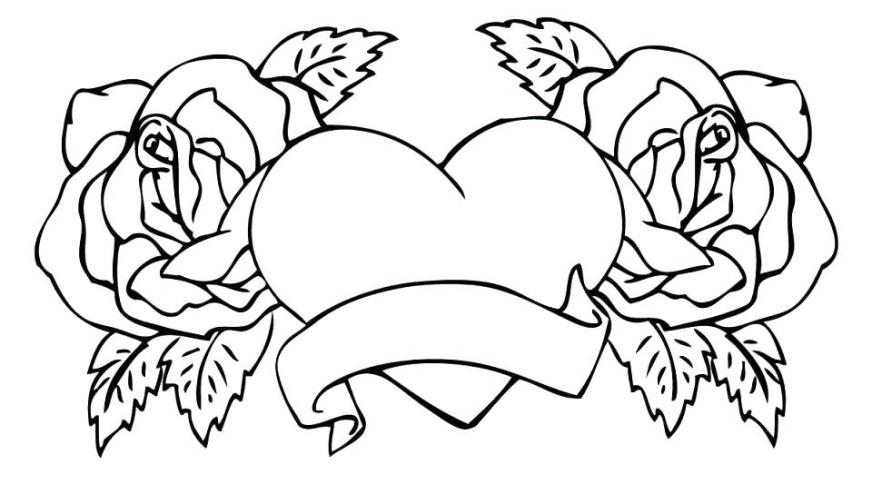 coloring pages rose