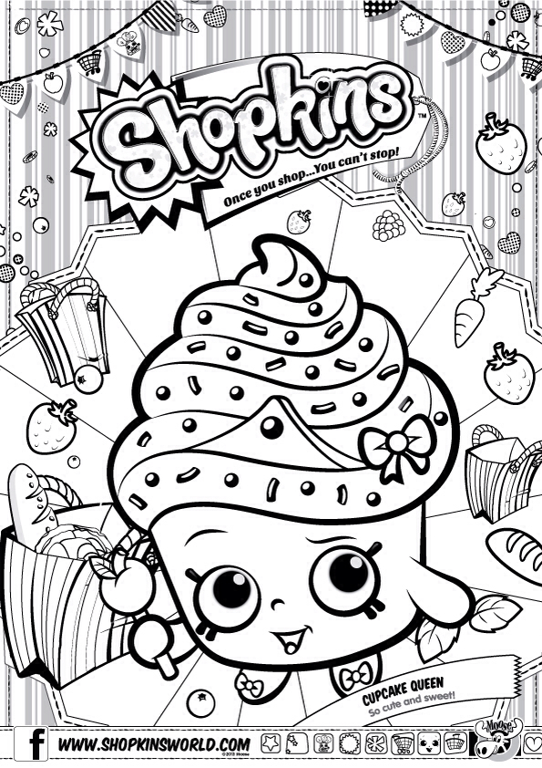 coloring pages shopkins to print