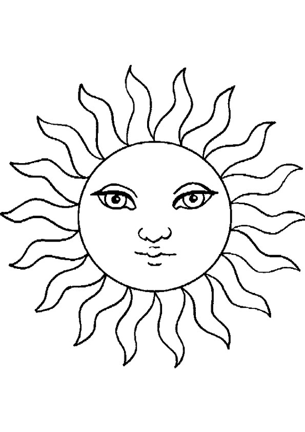 coloring pages sun coloring page for kids