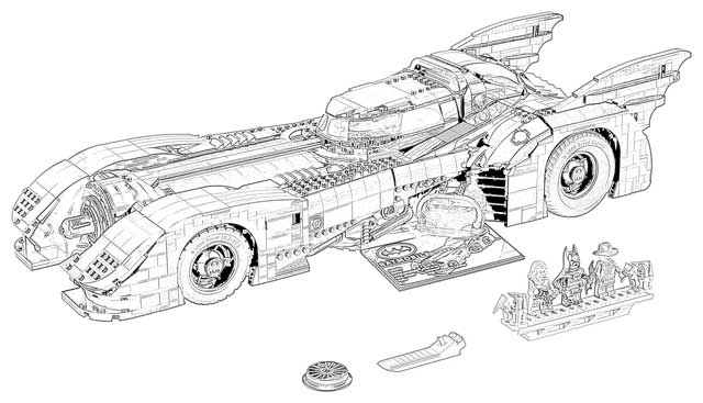 coloring pages transforming batmobile coloring pages free