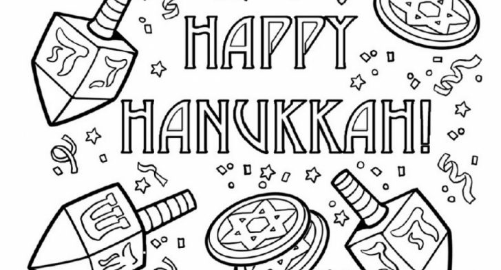 coloring pictures for hanukkah pusat hobi