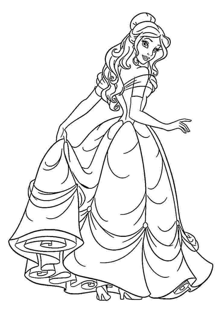 coloring sheets of princesses princess coloring pages best