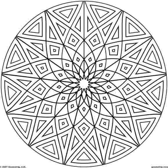 colouring pages for adults geometric coloring pages