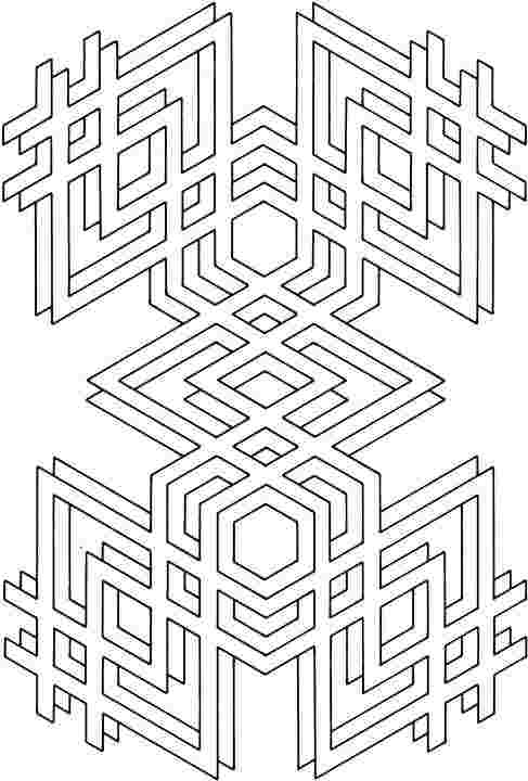 colouring pages geometric shapes free printable geometric