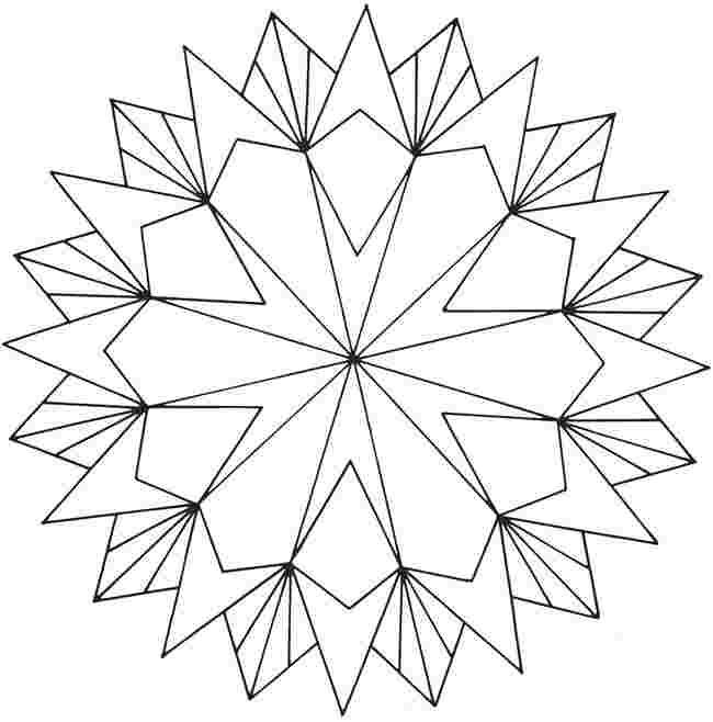 colouring pages geometric shapes huangfei