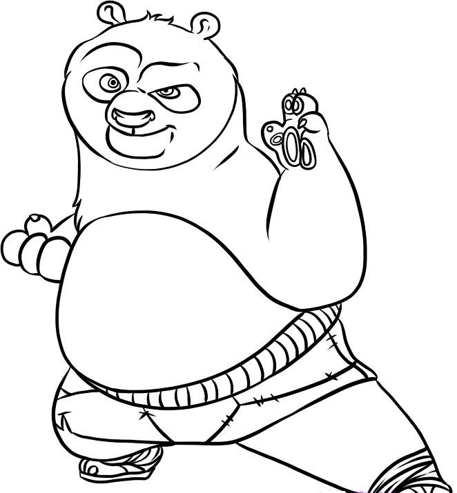 colouring pages kung fu panda pusat hobi