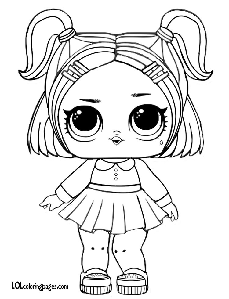 colouring pages lol dolls pusat hobi