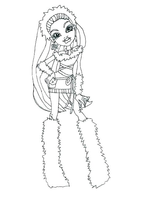 colouring pages monster high pusat hobi