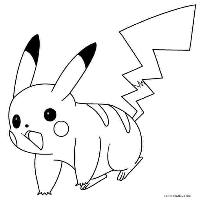 colouring pages of pikachu pikachu from pokmon go coloring