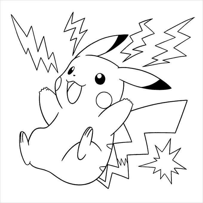 colouring pages pikachu pusat hobi