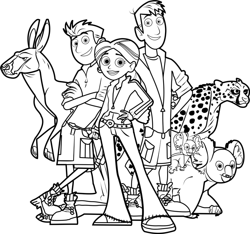 colouring pages wild kratts pusat hobi