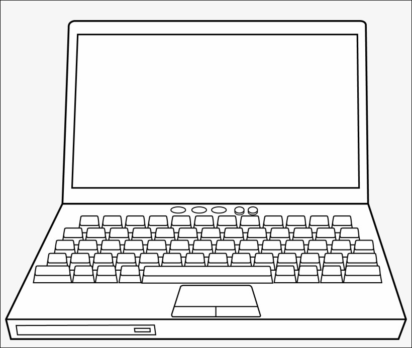 computer coloring page cool photos colours for kids desktop