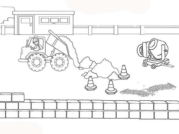 construction site coloring pages fun for kids