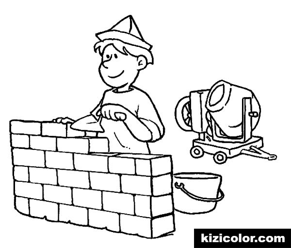 construction worker building a wall on jobs kizi free