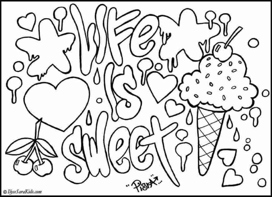 cool graffiti coloring pages for adults cool graffiti words