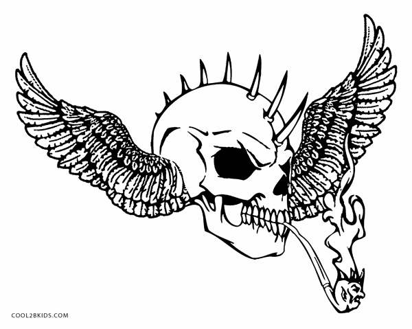 cool skull coloring pages kaigobank