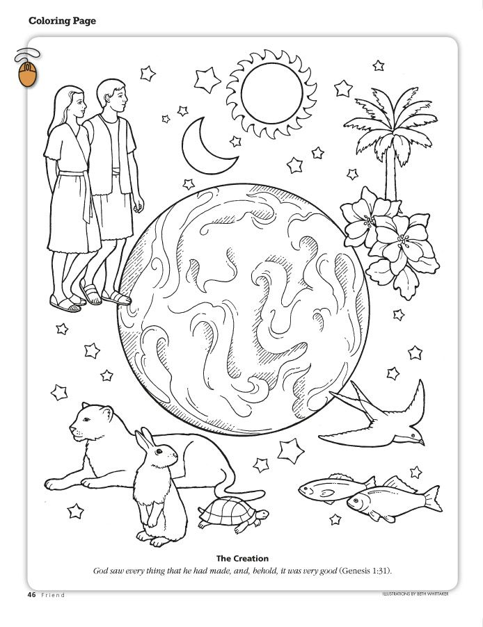 creation coloring page sunday school coloring pages