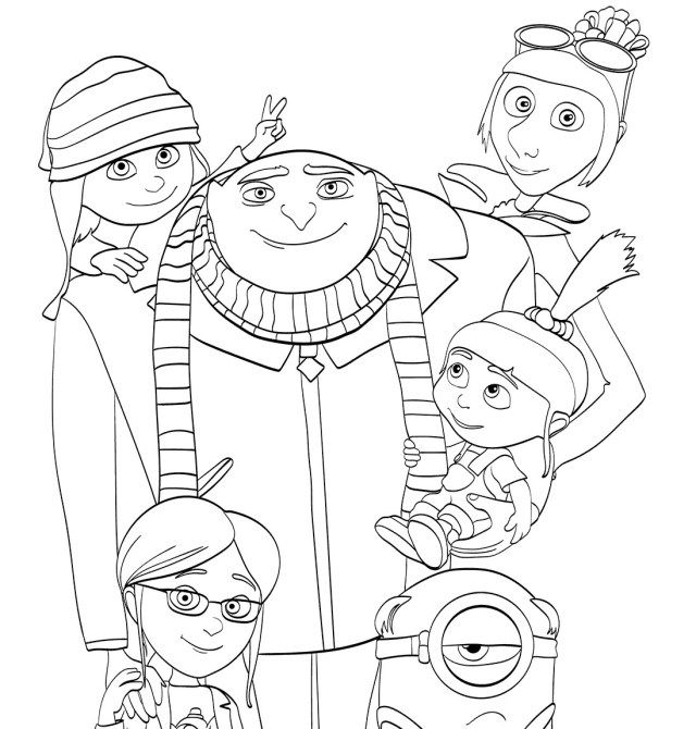 creative photo of despicable me 3 coloring pages minion