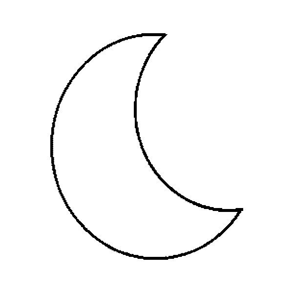 crescent moon colourin haa helal crescent moon