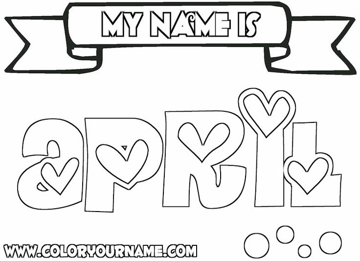 Name Coloring Pages Pictures Whitesbelfast