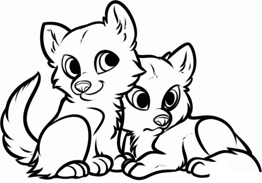 cute animal coloring pages at getdrawings free for