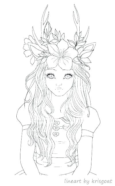 cute anime coloring pages girl