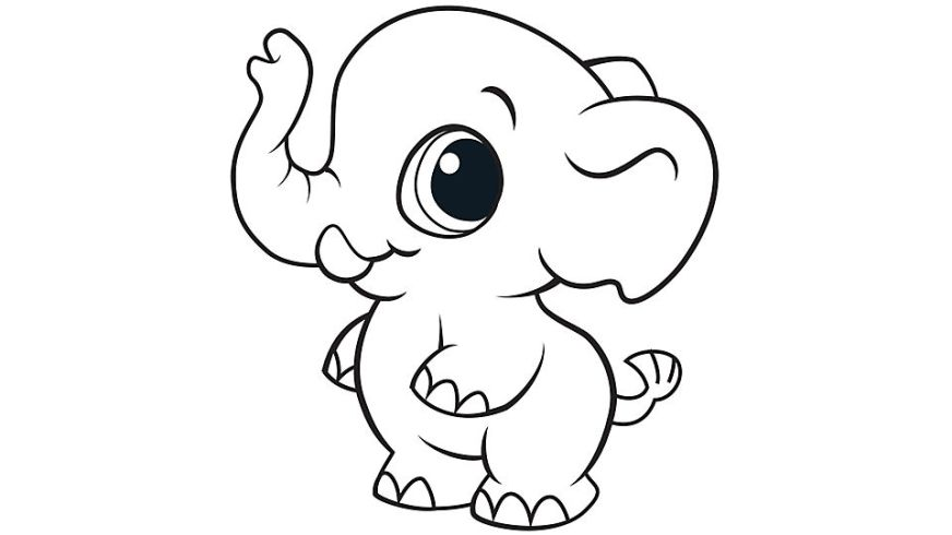 cute ba elephant coloring pages at getdrawings free