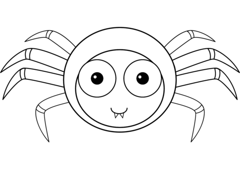 cute cartoon spider coloring page free printable coloring