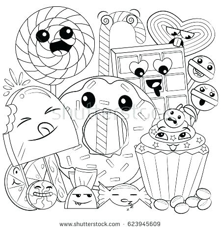 cute coloring pages food