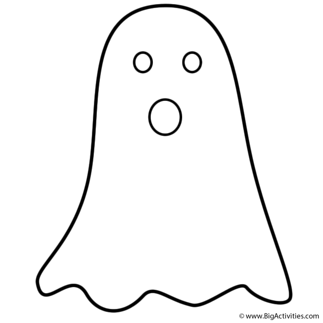 cute ghost coloring pages cartoon ghost coloring page for