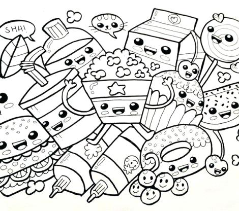 cute kawaii coloring pages at getdrawings free for