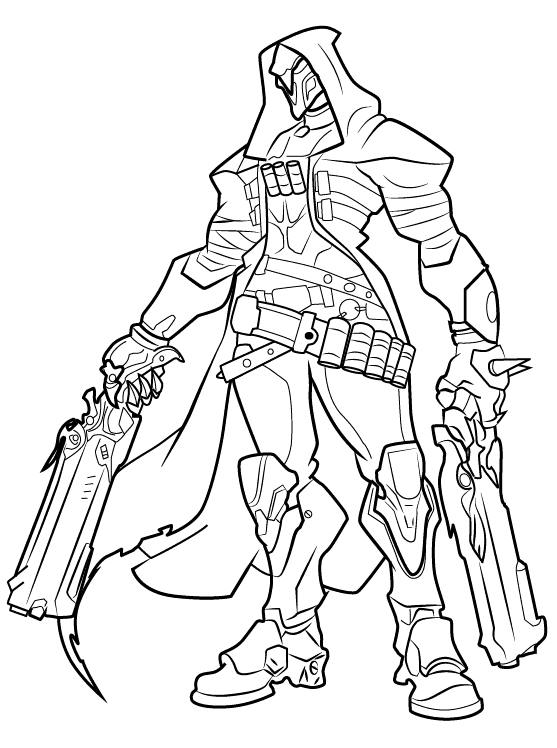 cute overwatch reaper coloring pages free fun for kids