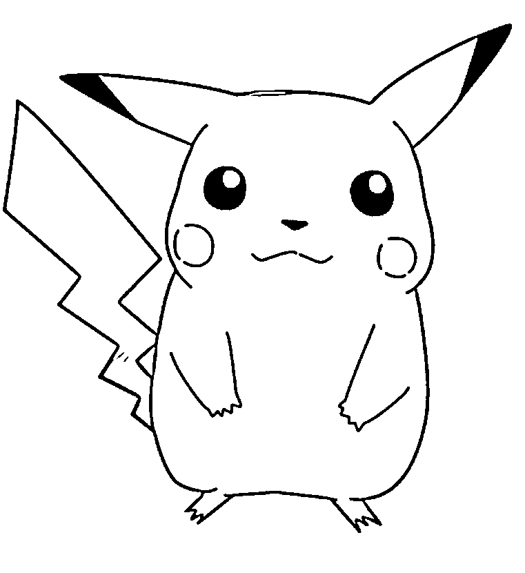 cute pikachu pokemon coloring page pokemon coloring pages