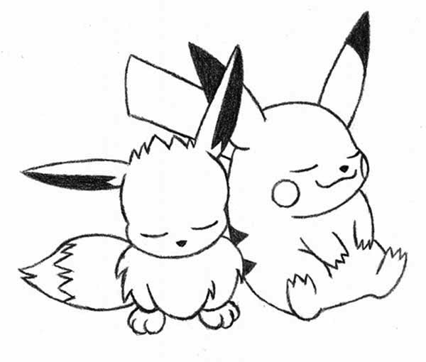 cute printable eevee pokemon coloring pages berbagi ilmu