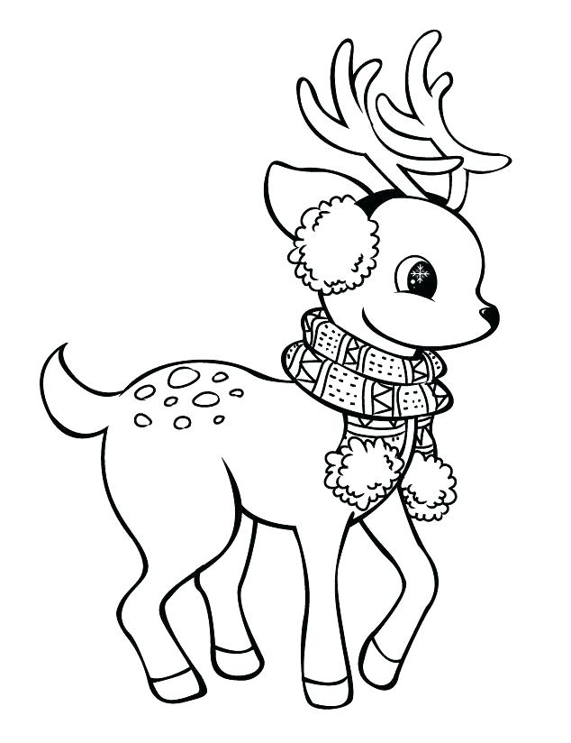 cute reindeer coloring pages at getdrawings free for
