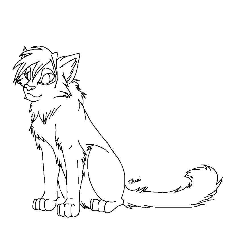 cute warrior warrior cats cat coloring page warrior