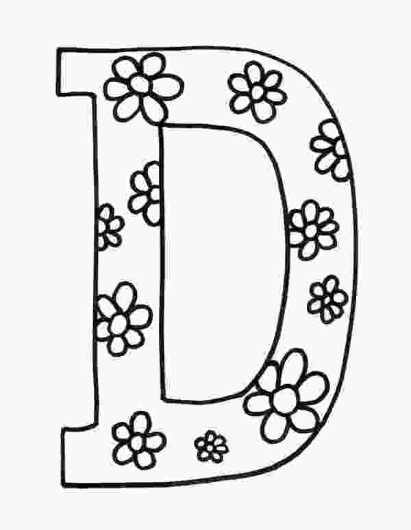 d coloring page letter d coloring pages to download and
