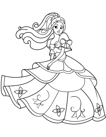 dancing princess coloring page free printable coloring pages