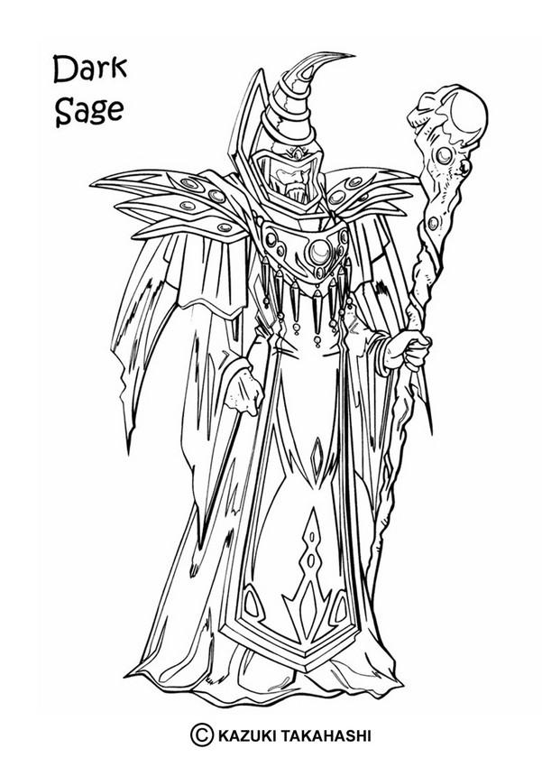 dark sage coloring pages hellokids