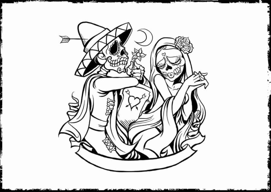 day of the dead coloring book inspirational free printable