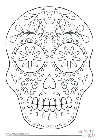 day of the dead coloring page pages colouring paozaclub