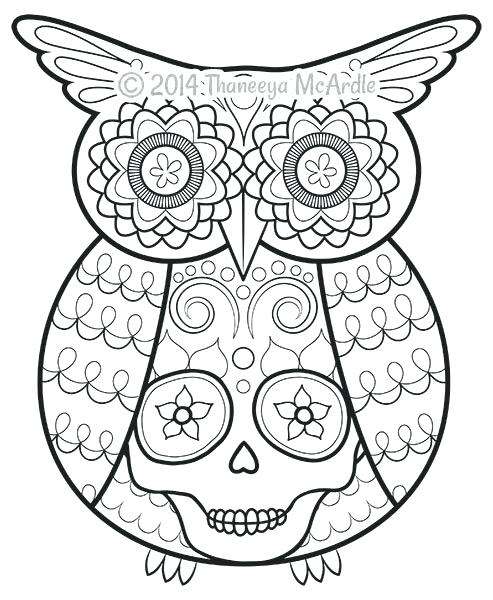 day of the dead coloring page pages printable book paozaclub