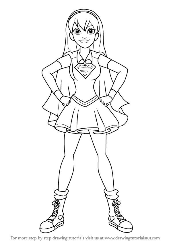 dc superhero girls supergirl coloring pages