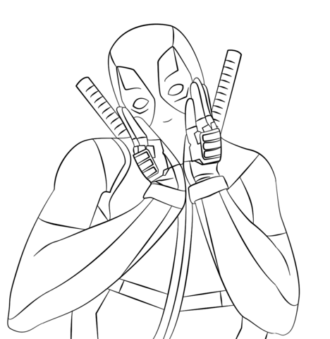 deadpool coloring pages free coloring pages
