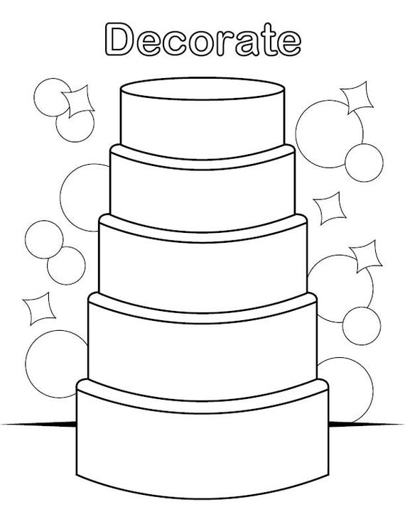 decorate the cake coloring page