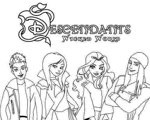 descendants coloring pages uma descendants coloring pages